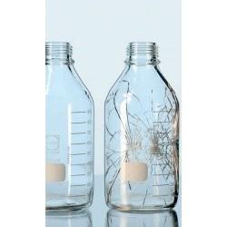 Бутыль DURAN Group 100 мл, GL45, без крышки и сливного кольца, с защитным покрытием (PU), бесцветное стекло (Артикул 218052404)