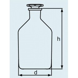 Бутыль DURAN Group 10 мл, NS10/19 узкогорлая, с пробкой, бесцветное стекло (Артикул 211650806)