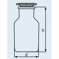 Бутыль DURAN Group 100 мл, NS29/22, широкогорлая, с пробкой, коричневое силикатное стекло (Артикул 231882407)