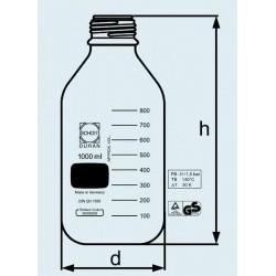 Бутыль DURAN Group 100 мл, NS29/22, широкогорлая, без пробки, бесцветное стекло (Артикул 211842402)