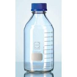 Бутыль DURAN Group 100 мл, GL45, с крышкой и сливным кольцом, бесцветное стекло (Артикул 218012458)