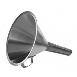Воронка Bochem стандартная, с ручкой, длина 220 мм, диаметр 200 мм, нержавеющая сталь (Артикул 8844)